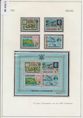 XB40615 Cook Islands 1967 stamp anniversary stamp on stamp MNH