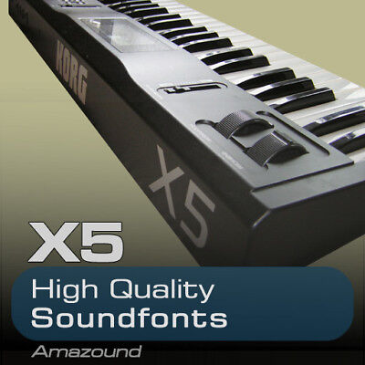KORG X5 SOUNDFONT COLLECTION 100 .sf2 FILES 1214 SAMPLES 1.1GB PC MAC FL STUDIO
