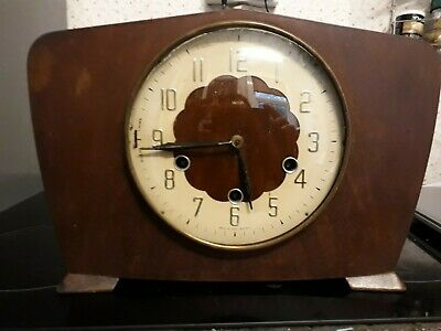 Vintage Smiths Westminster Chime Mantel Clock