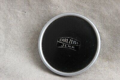 Vintage Metal Carl Zeiss Jena Lens Cap, 42mm, Black and Silver