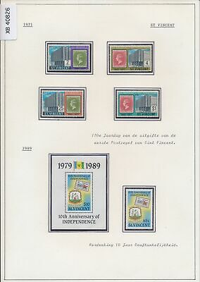 XB40826 St Vincent 1971-1989 stamp anniversary stamp on stamp MNH