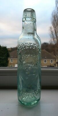 Old mineral water bottle barret & co Birmingham with pictorial trademark