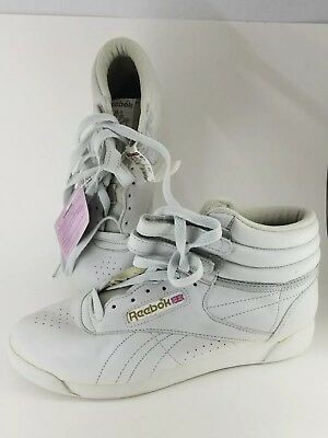 5e543f865903 RARE Vintage 80s Original Reebok Classic High Top Freestyle Women s 9 New  RARE