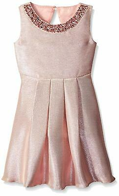90682983a97 RARE EDITIONS GIRLS 14 Blush Lace Metallic Skater Dress NWT  68 ...