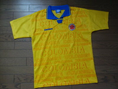 Colombia 100% Original Vintage Soccer Jersey 1994 Home M Good Condition Rare fb886075b
