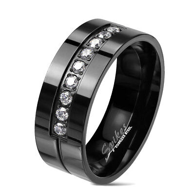 Tapsi ´S S Coolbodyart Finger Ring Band Stainless Steel Black Gloss Polished Frä