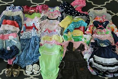 Baby Girls clothing 50 piece lot, size 0-6 Months