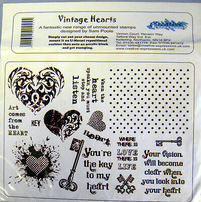 CREATIVE EXPRESSIONS Cut Mounted SINGLES Stamps ZENTANGLED HEART Inspire ums031