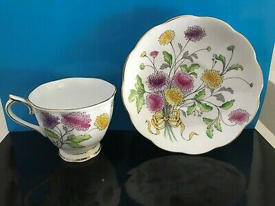 Royal Albert Chrysanthemum Flower of the month #11 Tea Cup and Saucer Set