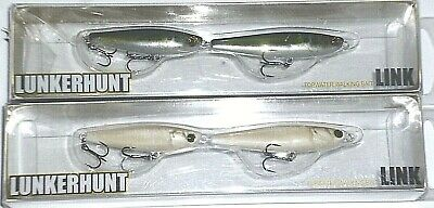 Lunkerhunt LNK404 Water Snake 4.5/' Link Topwater Fishing Lure New