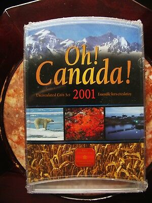 2001P Canada 7 coin Oh! Canada Uncirculated