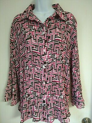 77ee5c216253e Cato WOMAN ~ Mod Button Down Crinkle Shirt~ Size 18 20W very flattering!