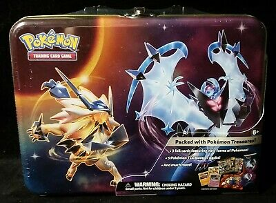 Pokemon Tcg Collector's Tin Chest Lunchbox Sun & Moon Ultra Prism W/5 Packs