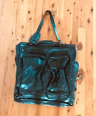 Leather travel suit carrier bag