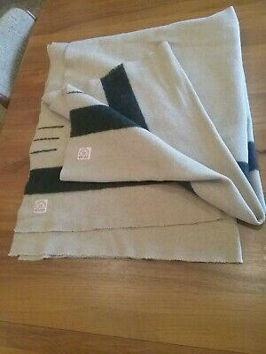 HUDSONS BAY 3 POINT early 1900s antique trade blanket double uncut smoke free