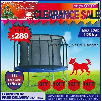Huge Stock Brand New Trampoline 8/10/12/14ft and 48inch CLEARANCE SALE