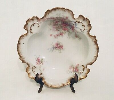 Antique Limoges GDA France Gerard Dufraisseix Abbot Small Dish Delicate Flowers