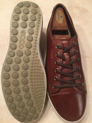 e689cdfc71 ECCO 'SOFT 7' Mens Brown Leather Sneaker/shoes Size 9.5M/43 Euc $160