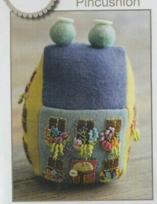Blooming Bungalow Pincushion - applique & embroidery PATTERN - Sue Spargo