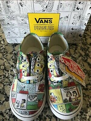 29d750c820 Vans X Peanuts Authentic Comics Strips Athletic Shoes Kids Size 9.5 White