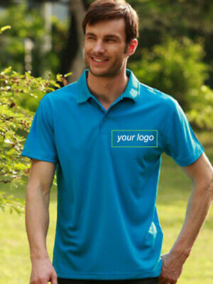 Mens Quick Dry Promo Basic Polo + 1 Customise Left Hand Chest Logo Embroidery