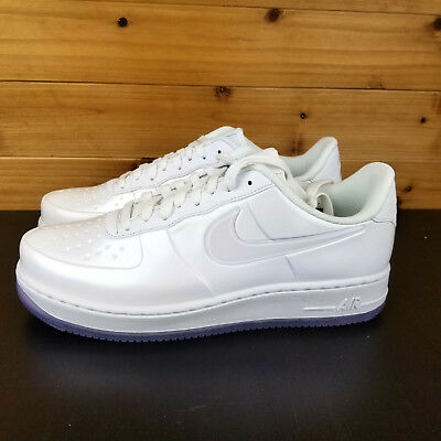 048650443b9 NIKE AF1 AIR Force 1 Foamposite Pro Cup Triple White Ice AJ3664-100 ...