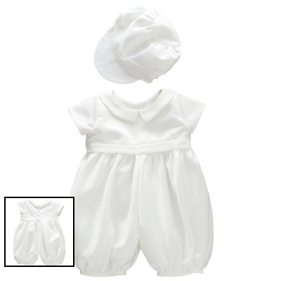 48d431ea3 Infant Baby Boy Christening Baptism Outfit Romper Clothes FREE SHIPPING