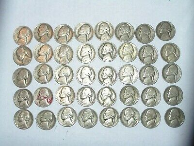 Silver War Nickels Roll Of 40