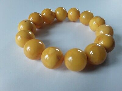 Bernsteinarmband Baltic Amber Bracelet Butterscotch Balls 14 mm
