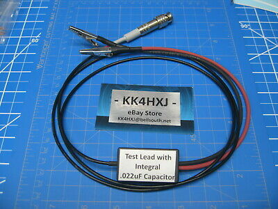 Custom Shielded Test Lead with Integral Capacitor for Vintage Test Gear