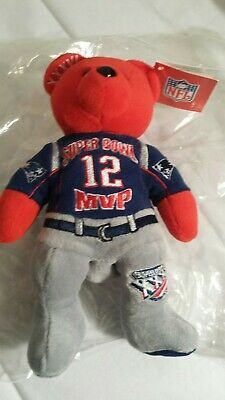 TY Beanie Babie Very Rare Super Bowl XXXVI 36 Tom Brady MVP NWT Numbered on  foot 6195f8225