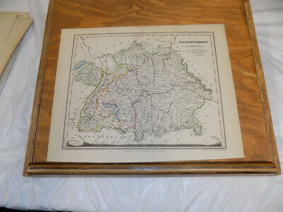 c1850 Antique COLOR Map///SOUTHERN GERMANY, published by Orr and Company