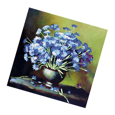 Stamped Cross Stitch Kits Blue Tone Design Embroidery Home Wall Decoration