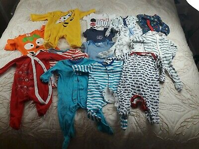 Baby Boy Bundle Age 0 To 3 Months Including Arsenal Baby Grow, Children In Need