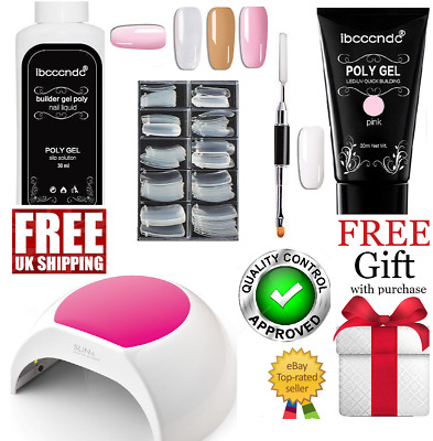UV/LED PolyGel Professional Nail Technician Complete Enhancement Gel Master Kit