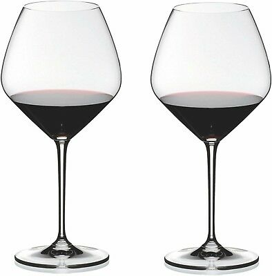 Riedel Premium Heart to Heart Crystal Pinot Noir Wine Glass Set of 2 NEW