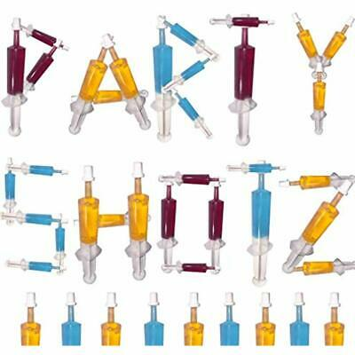 60 GrownUp Toys Pack Jello Shot Syringes (Medium 1.5oz With CAPS)