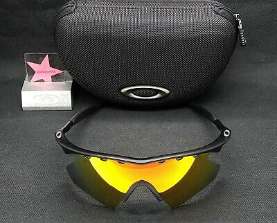 2f7b66126b9 Oakley M-Frame Matte Black w  Fire Iridium Heater Authenic Rare Custom