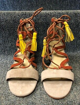 c5e5310deb00 Marc Fisher Women s Rayz Sandal Taupe Suede NEW W  BOX! FREE SHIPPING!