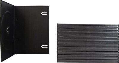 5 Black DVD Case, Single 1 Disc, Clear outer Sleeve, SLIM 7mm