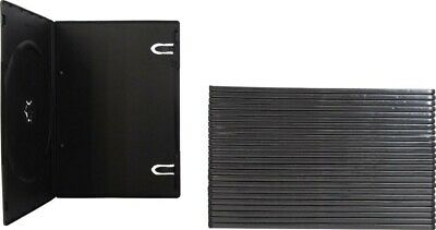 Ten (10) Black DVD Case, Single 1 Disc, Clear outer Sleeve, SLIM 7mm