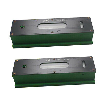 2x Precision Level Bar Leveler, High Accuracy 0.02mm with Storage Case 150mm