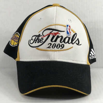 New Adidas 2009 LA Lakers FINALS Hat Cap NBA Basketball Embroidered Trophy RARE