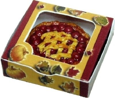 Dollhouse Miniature Cherry Pie with Box - 1:12 Scale