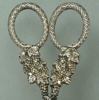 Ornate Antique Sheathed Sterling Silver Scissors * English * Circa 1840