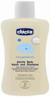 Chicco Gentle Body Wash Shampoo for Baby Skin Hair Paraben Alcohol Free 200ml Iu