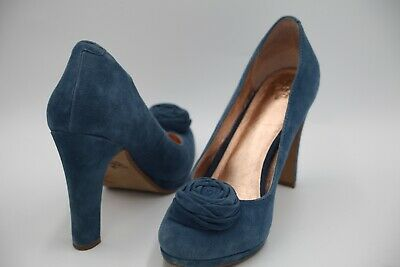 074d6f985a0 ANTHROPOLOGIE MISS ALBRIGHT Women's High Heel Pump Shoes Blue Size 8 M US