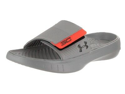 innovative design 40ae7 3b618 New Mens UNDER ARMOUR Gray Curry III Slides size 10