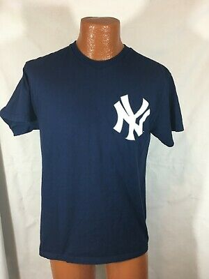 separation shoes 1c88f 62d47 MAJESTIC NEW YORK Yankees Derek Jeter Jersey T-shirt med Throwback preowned