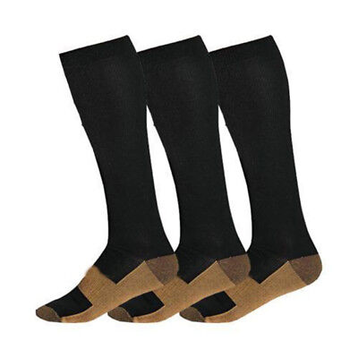 FT- Copper Infused Compression Socks 20-30mmHg Graduated Men's Women's S-XXL Coo